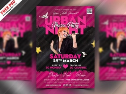Urban Night Free PSD Flyer Template vol4