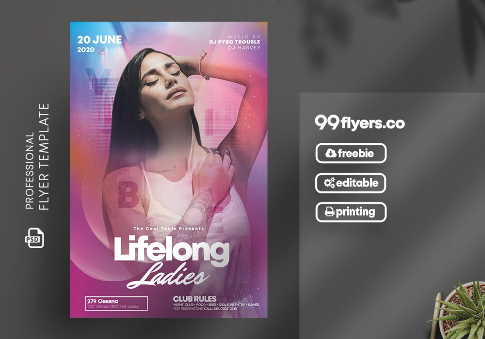 Vibe Night - Free DJ Flyer Template in PSD