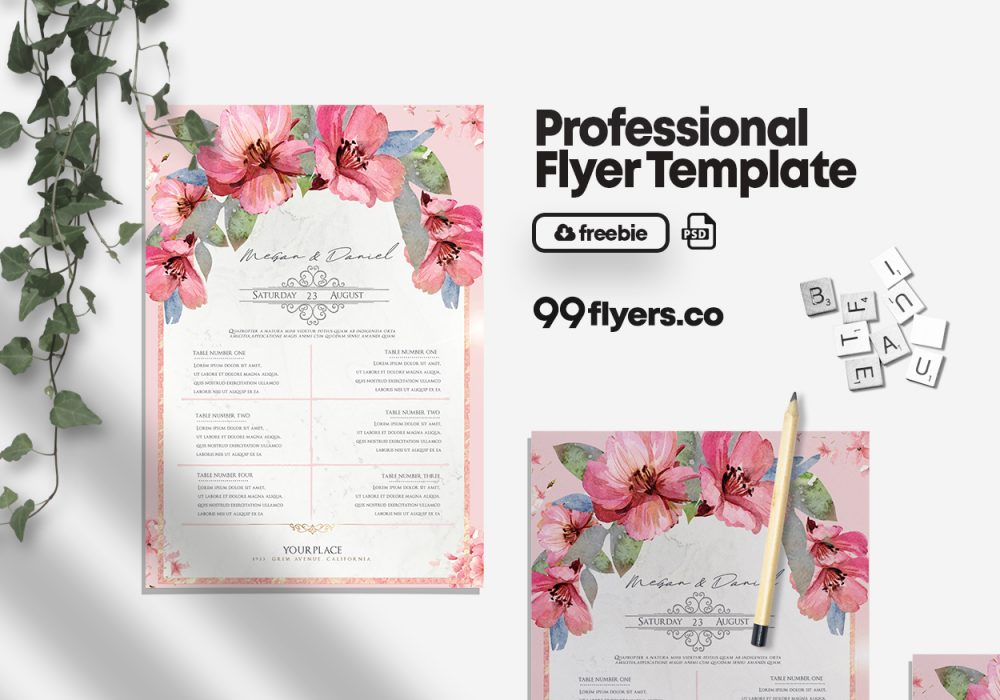 Wedding Check List – Free PSD Flyer Template