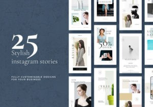25 Free Stylish Instagram Stories Pack in PSD