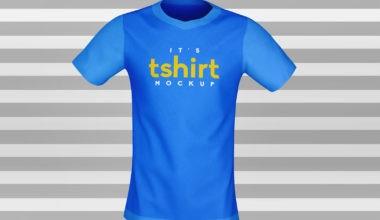 3D Half Sleeves Front & Back T-Shirt Free Mockup