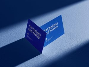 4 Business Cards Free Mockup
