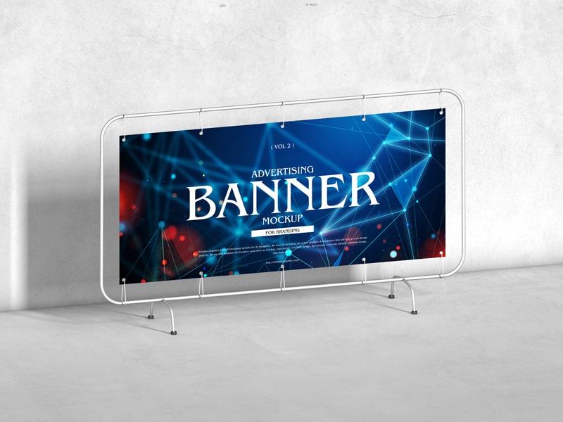 Advertising Banner Free Mockup