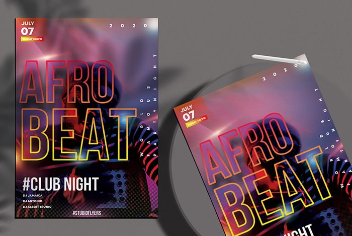 Afro Beats Party Free PSD Flyer Template