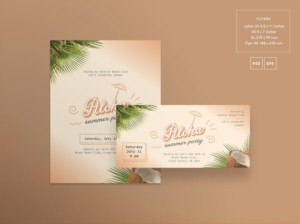 Aloha Summer Party Free PSD Flyer Template