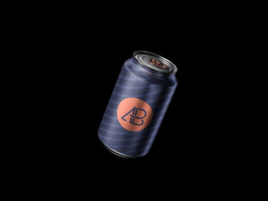 Aluminum Can (330 & 500 ml) Free Mockups