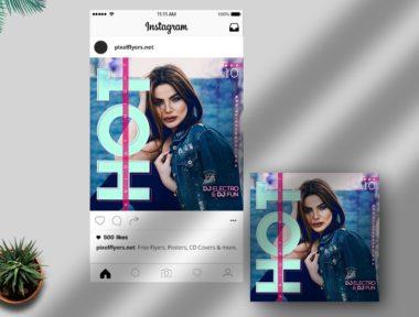 Artist Event Free Instagram PSD Template