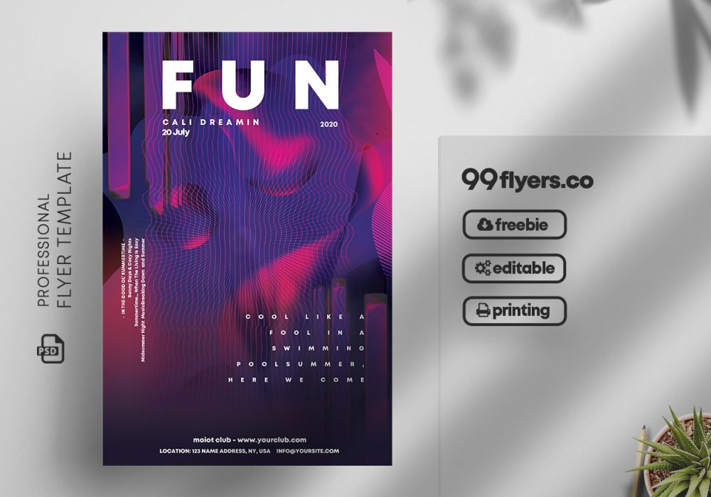At the Club Free PSD Flyer Template v2