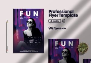 At the Club Free PSD Flyer Template v1