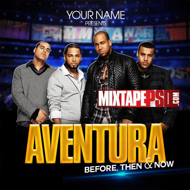 Aventura - Free Mixtape Cover PSD Template