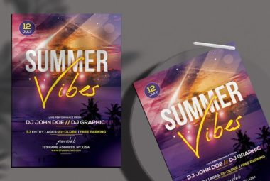 Beach Party Free Summer PSD Flyer Template