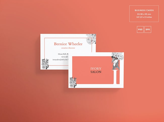 Beauty Agency Opening Business Card Free PSD Template