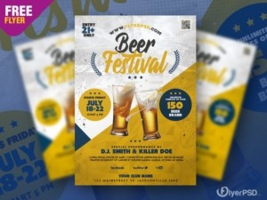 Beer Festival PSD Free Flyer Template vol3
