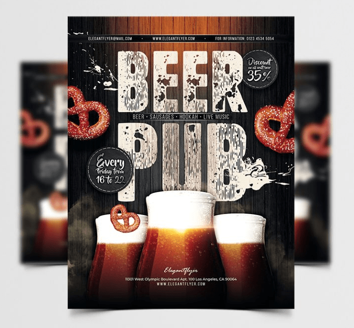 Beer Pub - Event Free PSD Flyer Template