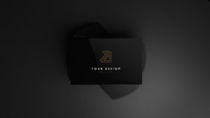 Black Business Card Free Mockup
