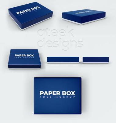 Box with Lid Free Mockup Bundle