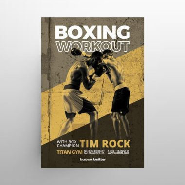 Boxing Training Free PSD Flyer Template