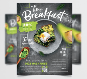 Breakfast Time Free Restaurant PSD Flyer Template