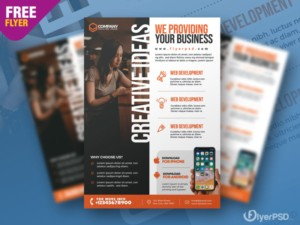 Business Advertising Free PSD Flyer Template