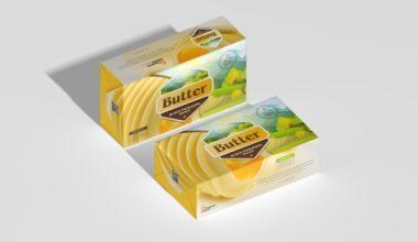 Butter Block Packaging Free Mockup