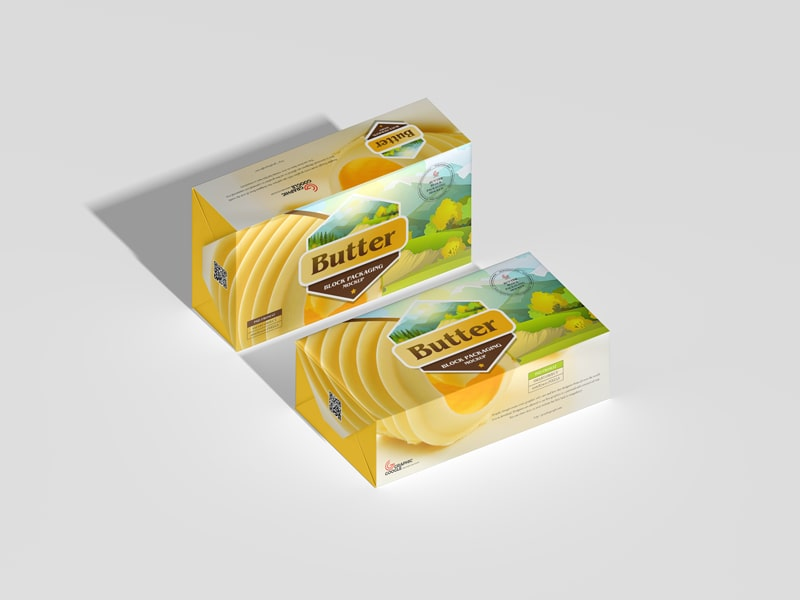 Butter Block Packaging Free Mockup
