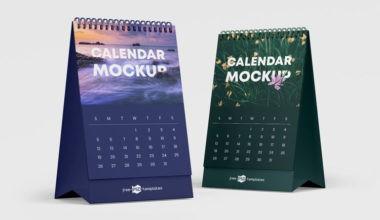 Calendar Set Freebie Mockups