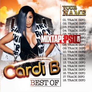 Cardi B Music Free PSD Mixtape Template