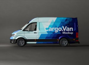 Cargo Van Wrapping Free Mockup