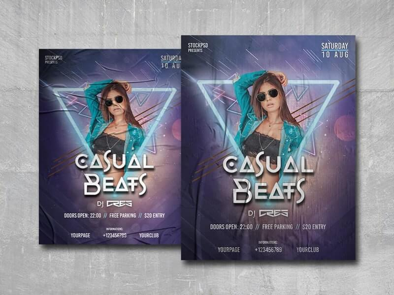 Casual Beats Free PSD Poster Template