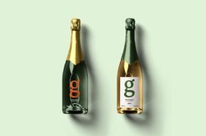 Champagne Bottle Free PSD Mockup