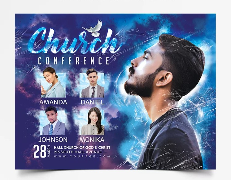 Church Conference Free Event PSD Flyer Template