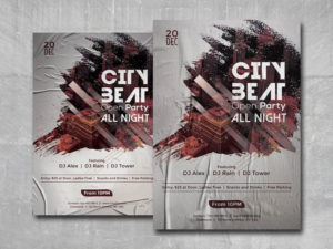 City Beat Free PSD Flyer Template