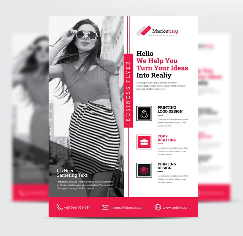 Clean Fashion PSD Freebie Flyer Template