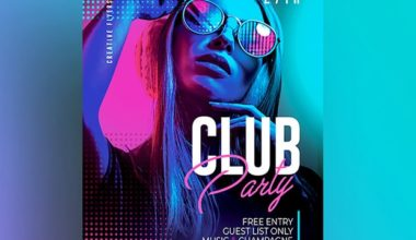 Club Party - Free Colorful PSD Flyer Template