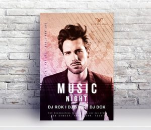 Concert Performance Free PSD Flyer Template v2