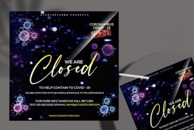 CoronaVirus Close PSD Free Flyer Template