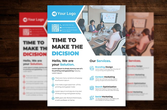 Corporate Ad Free PSD Flyer Template