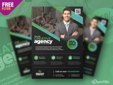 Corporate & Agency PSD Free Flyer Template