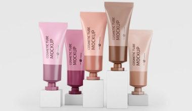 Cosmetic Cream Tubes Free Mockup