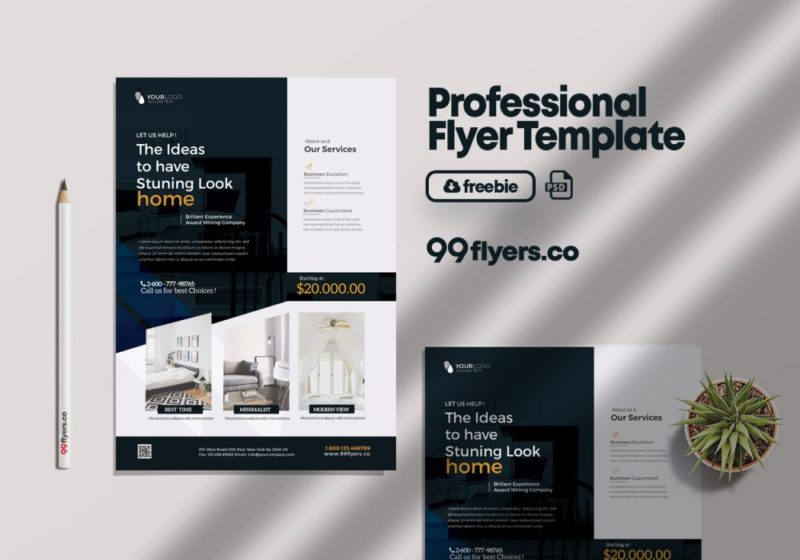 Creative Interior Agency PSD Free Flyer Template