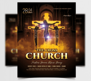 Cross Church Free PSD Flyer Template