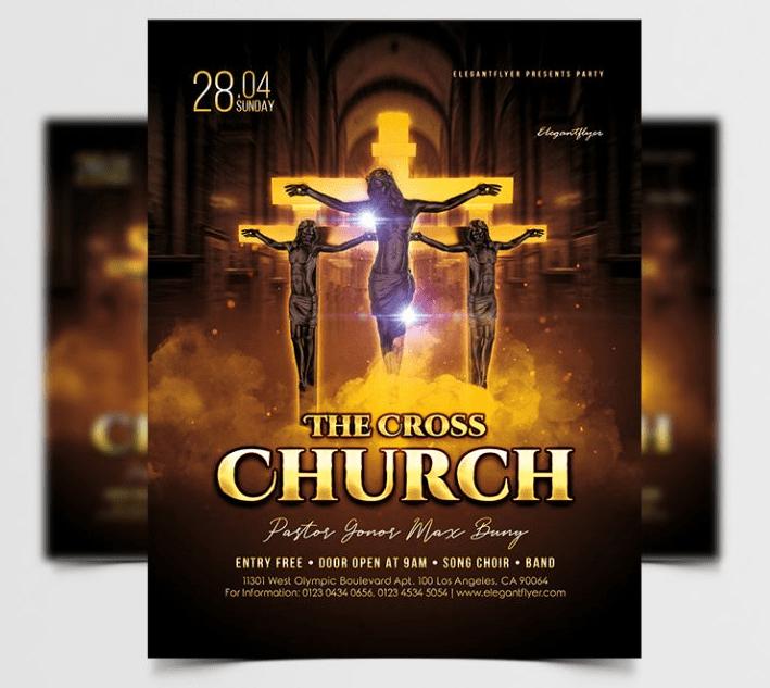 Cross Church Free PSD Flyer Template