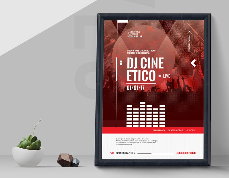 DJ Performance Live Free Flyer Template