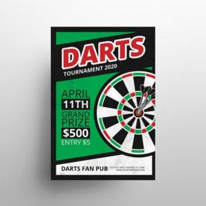 Darts Game Event Free PSD Flyer Template