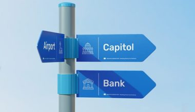 Direction Sign Street Free Mockup