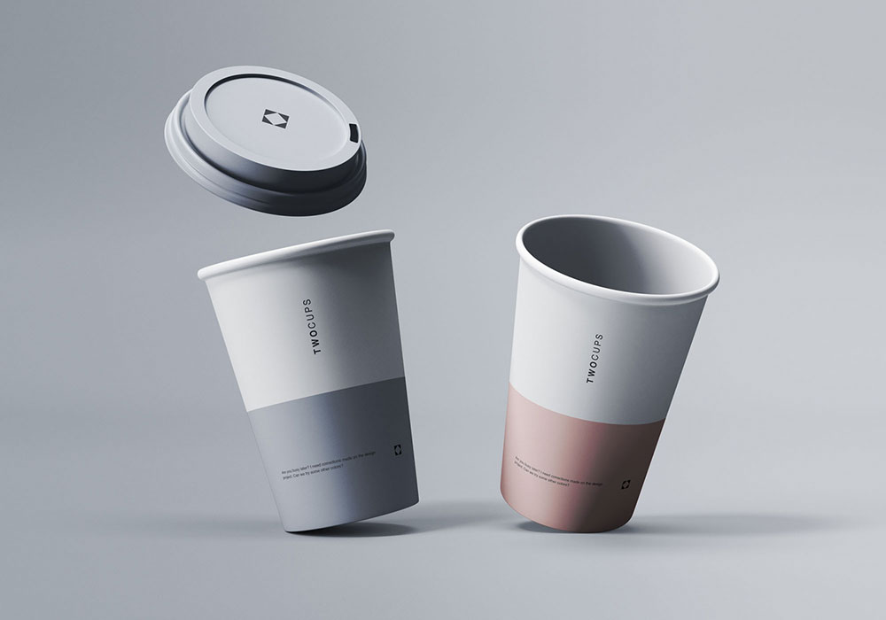 Disposable Coffee Cups Free Mockup