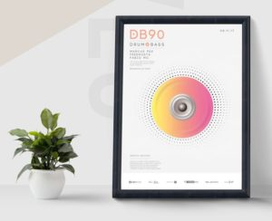 Drum & Base PSD Free Flyer Template