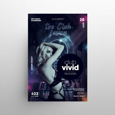 EDM Club Party Free PSD Flyer Template