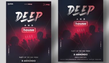 EDM Party Free PSD Flyer Template
