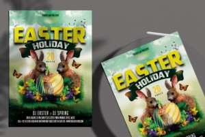 Easter Celebration Free PSD Flyer Template